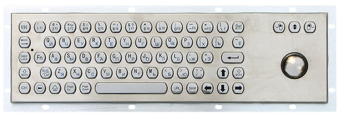 Metal keyboard with trackball TG-best-01